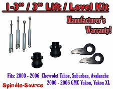 "2000 - 2006 CHEVY GMC 1500 SUVs tahoe yukon 1-3"" Keys / 3"" Leveling Kit + SHOCKS"
