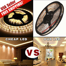 Warm White 5M SMD 3528 Flexible LED Strip String Light 600Leds Waterproof 12V
