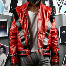 New Michael Jackson Costume Thriller Leather JACKET & Free Billie Jean GLOVE