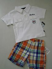 Nautica Toddler Boy 2pc Polo Shirt & Shorts Outfit 6/12M New