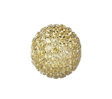 10mm Gold Plated Sterling Silver and Gold Cubic Zirconia Stone Bead
