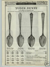 1937 PAPER AD Silverware Tudor Plate Madelon June Barbara Skyline Pattern