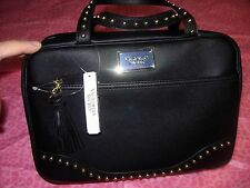 Victoria's Secret Travel Case Cosmetic Bag w/small bag! Duo Black w/Gold Studs