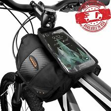 Ibera Top Tube Angled Mini Panniers & Top Clear Screen Pocket Cycling NEW IB-TB7