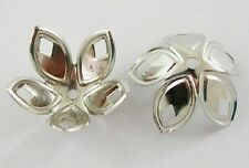 25 x Silver Tone Bead Caps - Bell Flower Cones - 18mm Large Bead Caps BC18