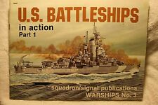 US Battleships Part 1 in Action Squadron Signal Book # 4003 Good Condition**