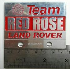 Land Rover Series 1 2 A RED ROSE TEAM Badge Aluminium DEFENDER Vintage FOR SALE
