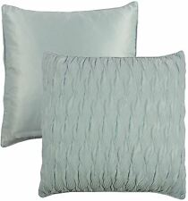 """RUFFLED WAVE EMBROIDERED DUCK EGG BLUE CUSHION COVER TO MATCH DUVET 18"""" – 45CM"""