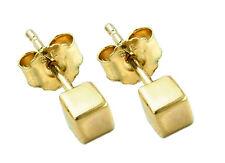 375 ECHT GOLD *** Würfel Ohrstecker 3 mm