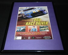 Pro Race Driver 2002 PS2 XBox Framed 11x14 ORIGINAL Vintage Advertisement