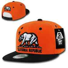WHANG Flat Bill 3D California Cali Republic Bear Snapback Caps Cap Hats Hat Neon