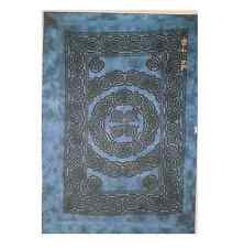 Cleopatra Celtic Knotwork Blue Tie Dye Hand Dyed Cotton Single Bed Spread Sheet