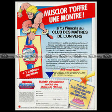 MAITRES DE L'UNIVERS Masters of Universe MOTU Montre 1986 Pub Publicité Ad #A806