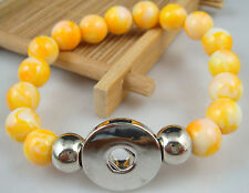 new Diy handmade jade beads Bracelet fit chunk  snap button hot sell free SW2WQ