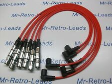 RED 7MM HIGH PERFORMANCE IGNITION LEADS WILL FIT PASSAT 2.8 VR6 QUALITY LEADS HT