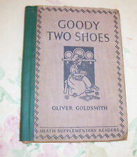 Goody Two Shoes Oliver Goldsmith 1930 ed. Heath Sup[plementary Readers Vintage