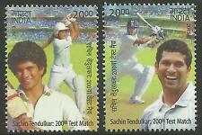 INDIA 2013 SACHIN TENDULKAR 200th CRICKET TEST MATCH 2v MNH