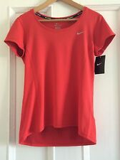 NIKE RUNNING  Ladies Dri Fit Shirt. Red. Size Medium