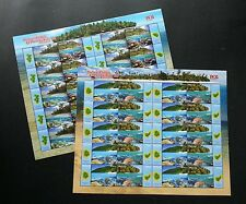 Malaysia Islands & Beaches III 2015 Coral Reef Turtle Map (sheetlet 2's) MNH