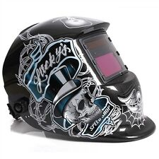 Solar Powered Auto Darkening welding helmet-Lucky Skull Design