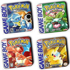 Pokemon Gameboy Box Art Set Of 4 Wood Coaster For Mugs/Cups Geeky Gamers