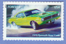 1970 PLYMOUTH HEMI BARRACUDA MUSCLE CAR Forever Stamp UNUSED New Postage 2013