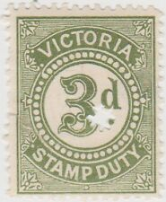 (S312) 1920's VIC 3d Emerald Green stamp duty