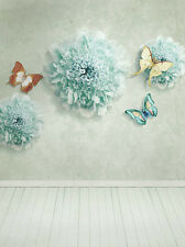 Flower Butterfly Vinyl Photography Backdrop Background Studio Props 3X5FT 6344
