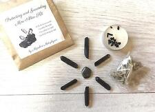 Mini grounding altar kit, 6 smokey quartz points, hematite, tourmaline candle +