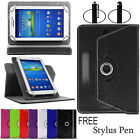 UNIVERSAL 360°Folio LEATHER Smart STAND Case COVER FOR All 7inch ANDROID TABLET