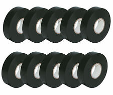 10 x Black Electrical PVC INSULATION TAPE Flame retardant Insulating Repair