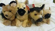 RUSS Yomiko Classics, Aurora, and Douglas collection of 4 GERMAN SHEPHERD plush