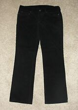 Womens J.Crew Pants size 32 Favorite Fit Black Corduroys 30 Inseam