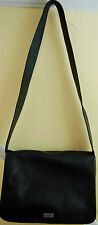 THE SAK Black GENUINE LEATHER Crossbody PURSE Satchel Womens Shoulder Bag B12