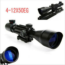 Original 4-12X50EG Rifle Scope Red Green Dual illuminated w/ Side Rails & Mount