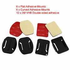 Accessories For GoPro Hero1,2,3,3+ 4 Curved Helmet Adhesive Side Mount Kit UK
