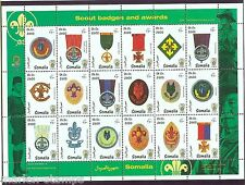 SOMALIA 1999   BOY  SCOUT BADGES & AWARDS 19th JAMBOREE   SHEET  MINT NH
