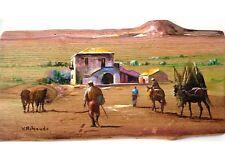 Scene Agreste Olio su legno cm. 32 X 60 - Vittorio Ribaudo