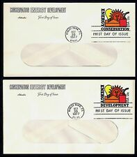 #U584 & U585 13c Energy Conserv/Develop, Artmaster-Window FDC **ANY 4=FREE SHIP