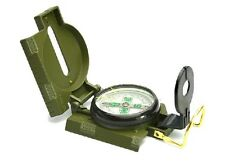 Lensatic Outdoor Camping Hiking Compass Army Green Style Survival Marching Metal
