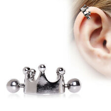 "16G 1/2"" CROWN CARTILAGE EAR CUFF 316L SURGICAL STEEL 9/16"" DIAMETER CROWN"