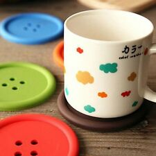 Lariy 5x Silicone Coffee Placemat Button Coaster Cup Mug Glass Beverage Holde...