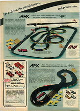 1976 ADVERT 2 PG AFX Penske Toy Raceway Magna Traction Race Car Set G-Plus 50'
