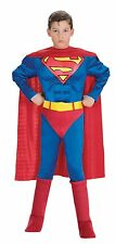 Muscle Chest Deluxe Superman Boys Costume - Small ( Size 4-6 ) 882626