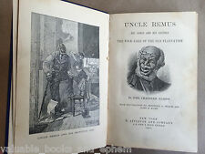 1881 Uncle Remus First Ed Song of South Harris Plantation Brer Rabbit Tar Baby