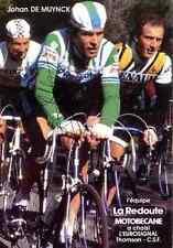 JOHAN DE MUYNCK LA REDOUTE Signed Autographe cycling Signé radsport autogramm