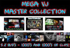 MEGA VJ-MASTER COLLECTION - 5 x DVD 1000's di clip, anelli, le modifiche di video.