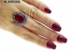 Antique Turkish Traditional Jewelry 925k Silver Handmade Ruby Ring Size 8 R3022