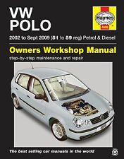 Haynes Manual 4608 Volkswagen VW Polo 1.2 E 1.4 E SE Twist 2002-2009