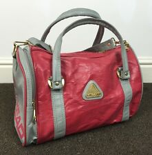 VINTAGE RETRO 90s PINK GREY HEAD DUFFLE BAG HOLDALL TRAVEL SPORTS GYM